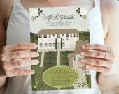 Custom Illustrated Wedding Invitation, Reception Card, Accommodations Card, Custom Venue Drawing, Custom Drawn Wedding Invite, Design Fee