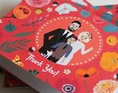 Thank You Note : Custom Illustrated Wedding Invitations Add-on, Design Fee