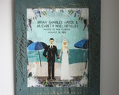 Distressed Wood Wedding Sign, Option 1, Chippy Frame, Several Colors