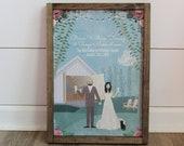 Custom Wedding Sign, Wood Wedding Sign, Distressed Wood Sign, Wedding Sign, Wedding Signage, Custom Wedding Sign, Wedding Sign, Option 2