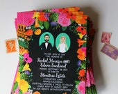 Custom Illustrated Save the Date or Invitation, Profile Portraits, Design Fee