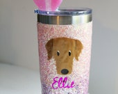 Custom Pet Glitter Tumbler