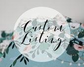 Custom Listing for Mandy H.