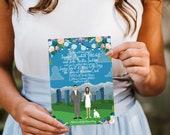 Custom Illustrated Wedding Invitation, Design Fee