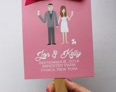 Custom Wedding Portrait, Custom Wedding Programs, Custom Couple Portrait, Custom Illustrated Wedding Programs, Design Fee