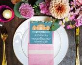 Wedding Menu, Custom Menu, Wedding Menu Card, Custom Wedding Menu, Reception Menu Card, Custom Illustrated, Design Fee