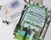Custom Wedding Portrait, Custom Wedding Invitations, Custom Couple Portrait, Custom Illustrated Wedding Invitation, Design Fee