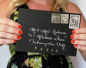 Calligraphy Envelope, Calligraphy, Handwritten Envelope, Wedding Envelope, Wedding Envelopes, Calligraphy Envelopes, Addressed Envelopes