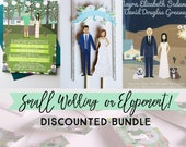 NEW!- Small Wedding Discounted Wedding Bundle, Design Fee