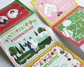 Folded Wedding Invitation, Custom Wedding Portrait, Custom Wedding Invitations, Custom Couple Portrait, Custom Illustrated, Design Fee