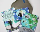 Custom Wedding Couple, Couple Portraits, Custom Invitations, Custom Wedding Illustration, Design Fee