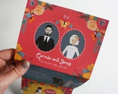 Tri-Fold Wedding Invitation, Custom Map Card, RSVP Card, Design Fee