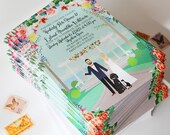 Custom Wedding Portrait, Custom Wedding Invitation, Custom Couple Portrait, Custom Illustrated Wedding Invitation, Save the Date, Design Fee
