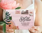 Wedding Envelope, Wedding Envelopes, Flower Envelope, Custom Wedding Envelope, Addressed Envelope