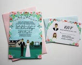 Custom Wedding Invitation and RSVP Card, Design Fee