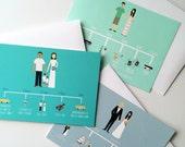 Wedding Timeline, Custom Wedding Portrait, Custom Wedding Invitations, Custom Couple Portrait, Custom Illustrated Wedding Invitation, Sample