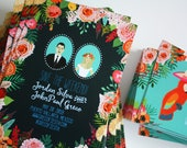 Custom Wedding Save the Date, Wedding Portraits, Custom Illustrated Save the Date, Design Fee