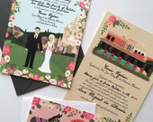 Custom Wedding Portrait, Custom Wedding Invitations, Custom Couple Portrait, Custom Illustrated Wedding Invitation, Design Fee