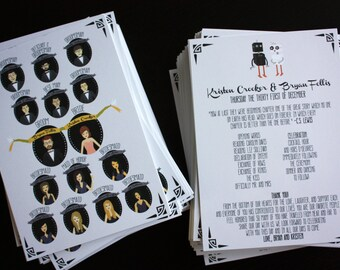 Bridal Party Portrait Programs (Profiles) : Custom Illustrated, Design Fee