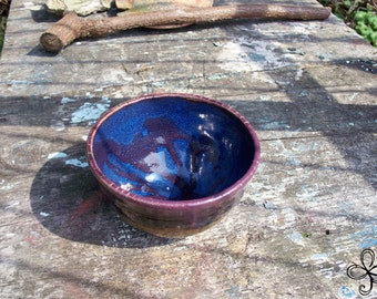 Swirl Bowl in Blue and Purple