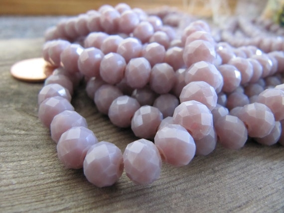 Pcs Crafts Peach Czech Crystal Opaque Glass Faceted Rondelle Beads 4 x 6mm 80