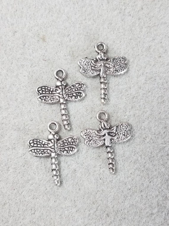 Dragonfly Charm//Pendant Tibetan Antique Silver 20mm  15 Charms Accessory Crafts