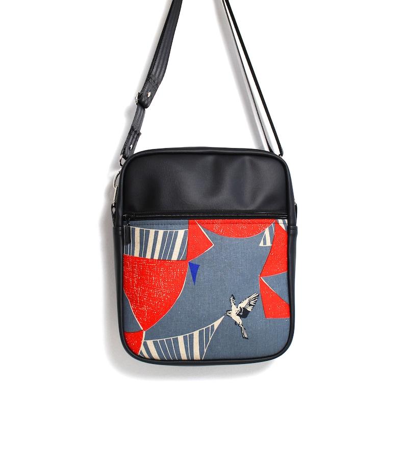 Crossbody zip bag travel bag zip sling bag vegan travel