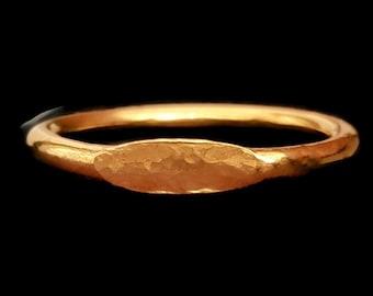 18k Gold Signet Ring - Graduation Ring - Anniversary Ring - Handmade Ring