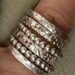 Silver Stacking Rings Set