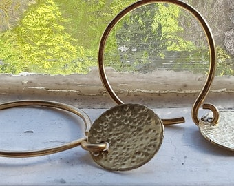 Charmed Hoops 14k Gold