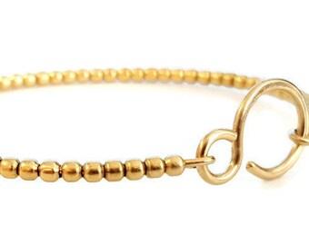 Gold Beaded Bracelet, Stacking Bracelet, Graduation Gift, Handmade