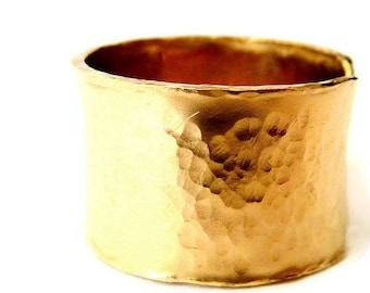 Wide Adjustable Band Ring, Statement Cigar Band Ring