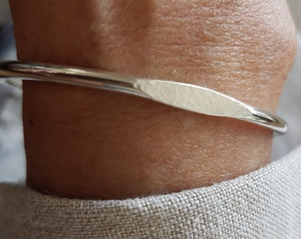 Signet Cuff - 925 Silver Bracelet - Handmade Cuff Bracelet