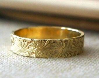 Wedding bands etsy vintage style wedding band ring 14k gold unisex junglespirit Image collections