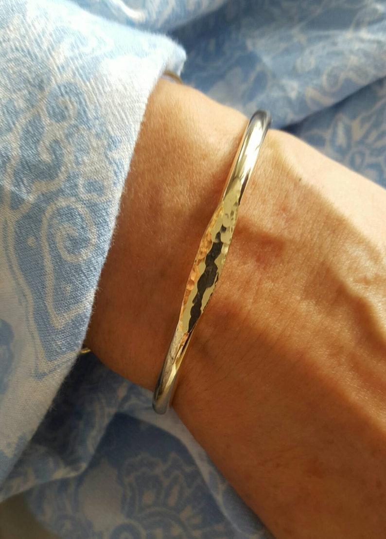 Signet Cuff Bracelet  14k Gold Fileed Cuff  Handmade image 0