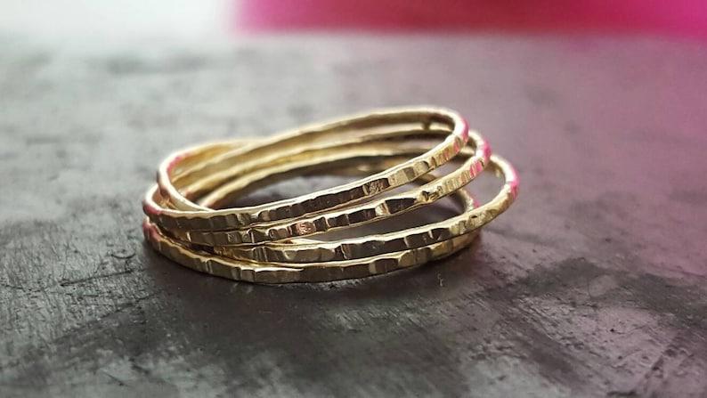 14k Gold Interlocking Ring image 0