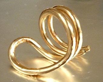Cobra Snake Ring - 14k Gold Filled Statement Ring - Handmade