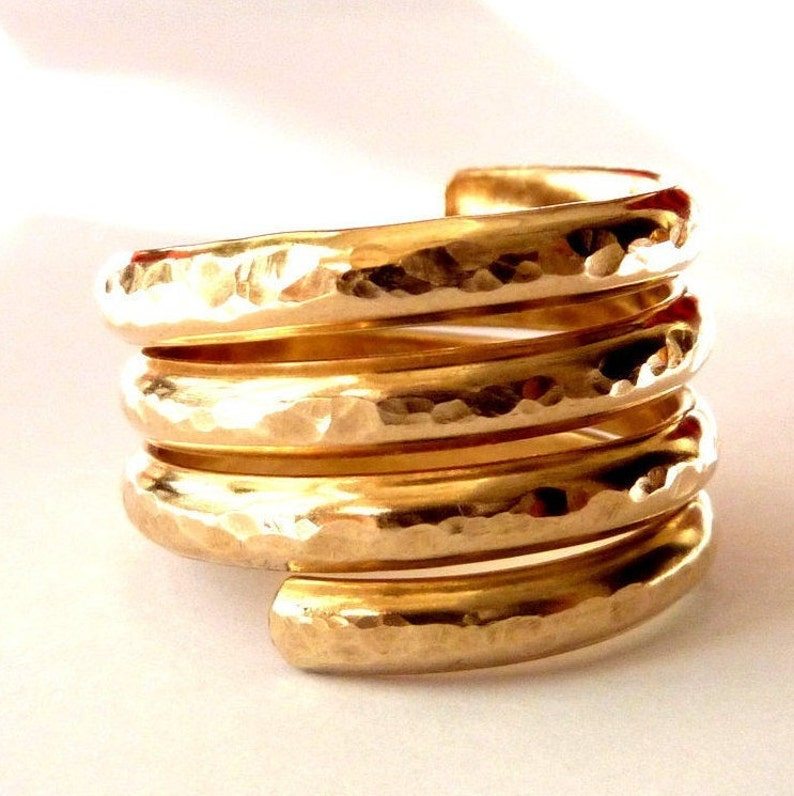 Swirl Statement Ring  14k Gold Filled Ring  Handmade image 1