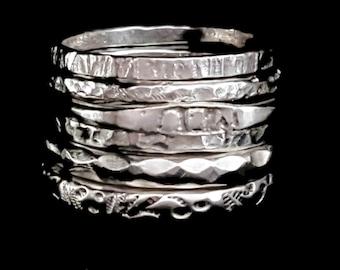 Six Trendy Rings Set