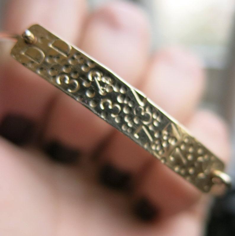 Secret Code Bracelet  14k Gold Filled Bar Bracelet  Handmade Gold Filled