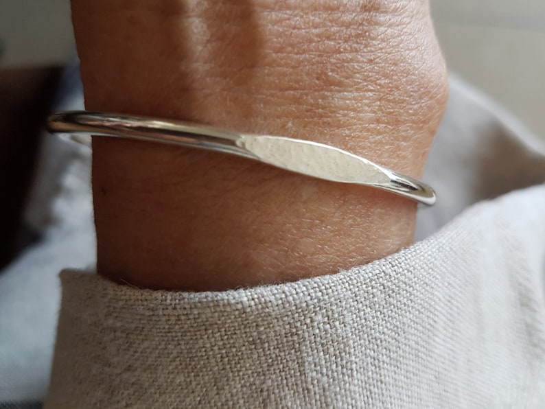 Signet Cuff  925 Silver Bracelet  Handmade Cuff Bracelet image 0