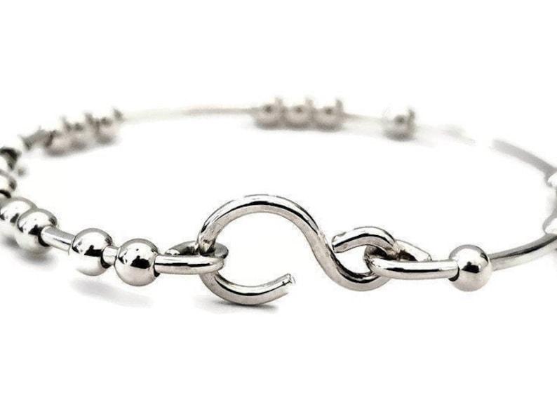 18 Chai Good Luck Bracelet  925 Silver  Handmade image 0