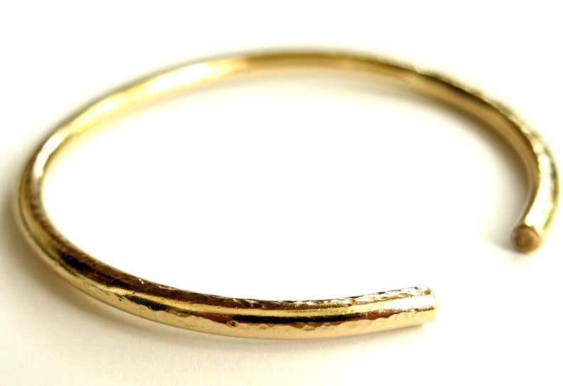 Round Open Bangle  14k Gold Filled Bracelet  Handmade Bangle image 1
