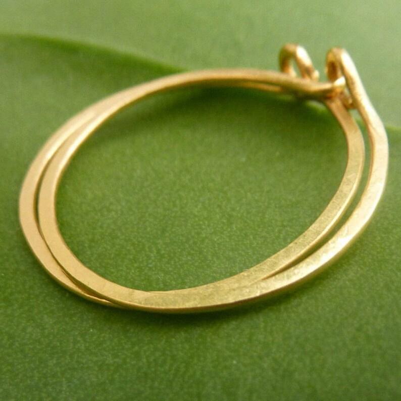 22k Gold Hoop Earrings image 0