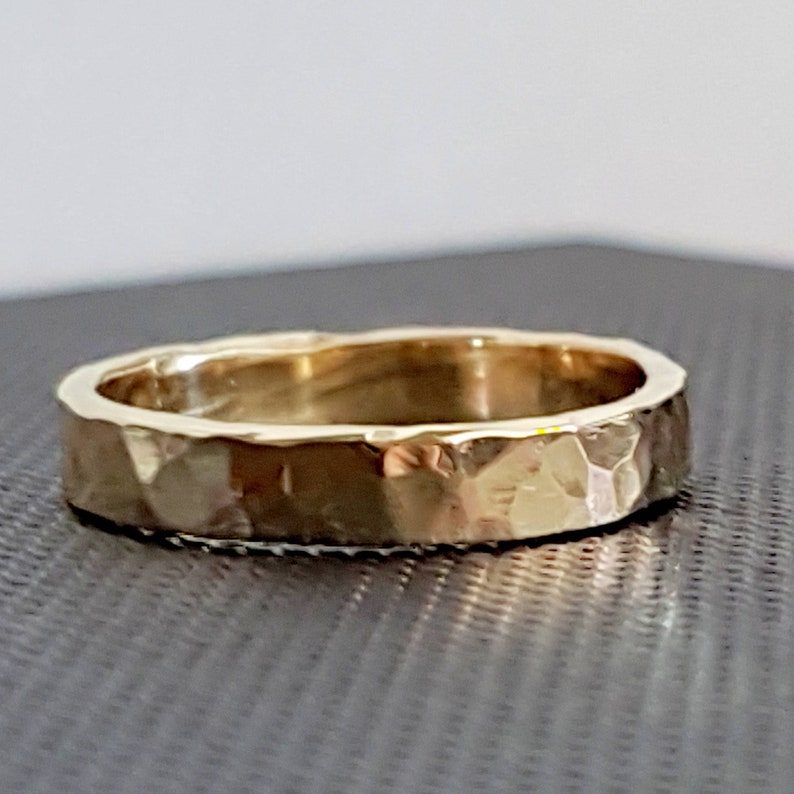9k Gold Wedding Band Ring image 0