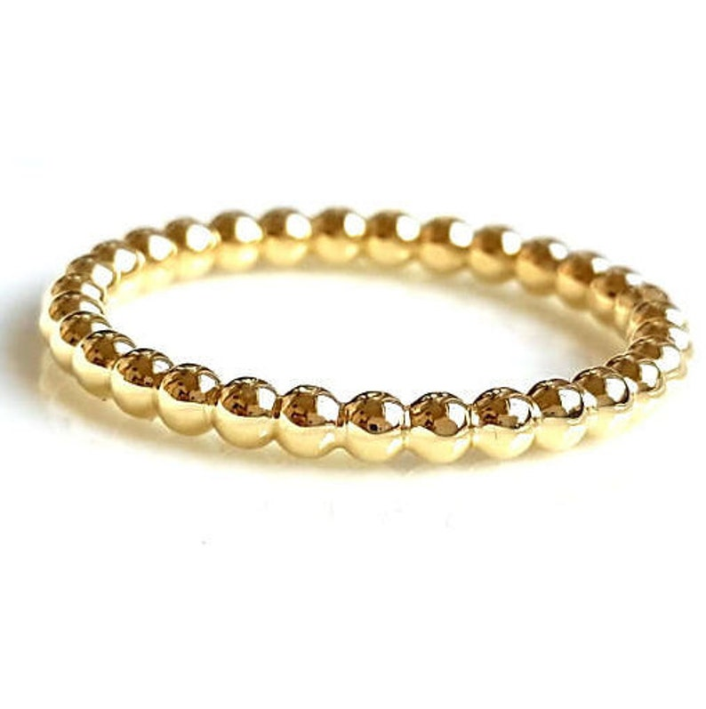 Bubbles Ring  Gold Filled Stacking Ring Gold-Filled