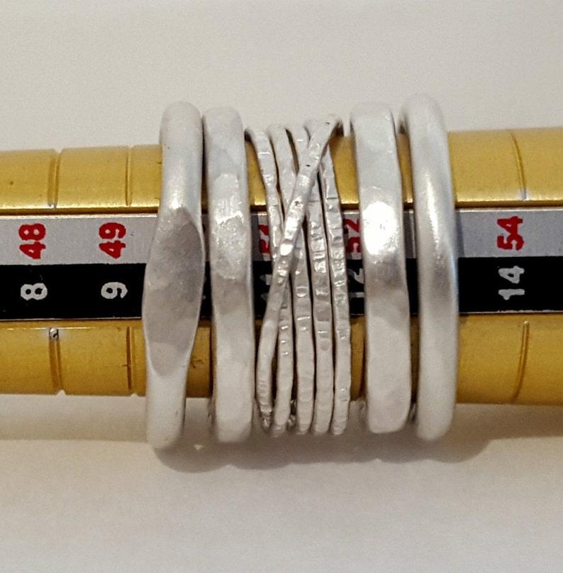Five Satin Brushed Rings Set image 0