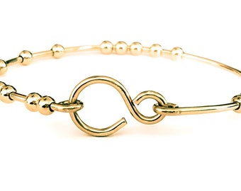 18 Chai Good Luck Bracelet - 14k Gold Filled Bracelet - Handmade Bracelet