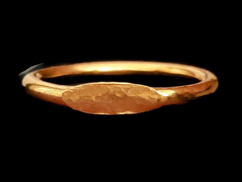 18k Gold Signet Ring  Graduation Ring  Anniversary Ring  image 1