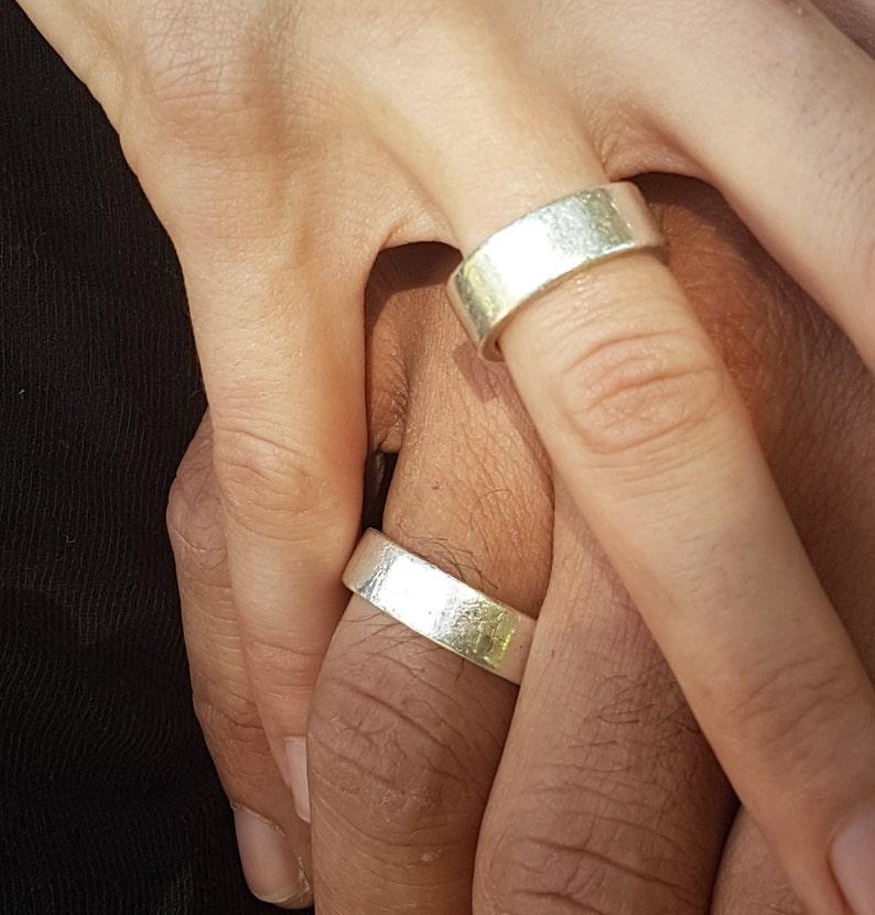 Silver Wedding Band Ring image 0